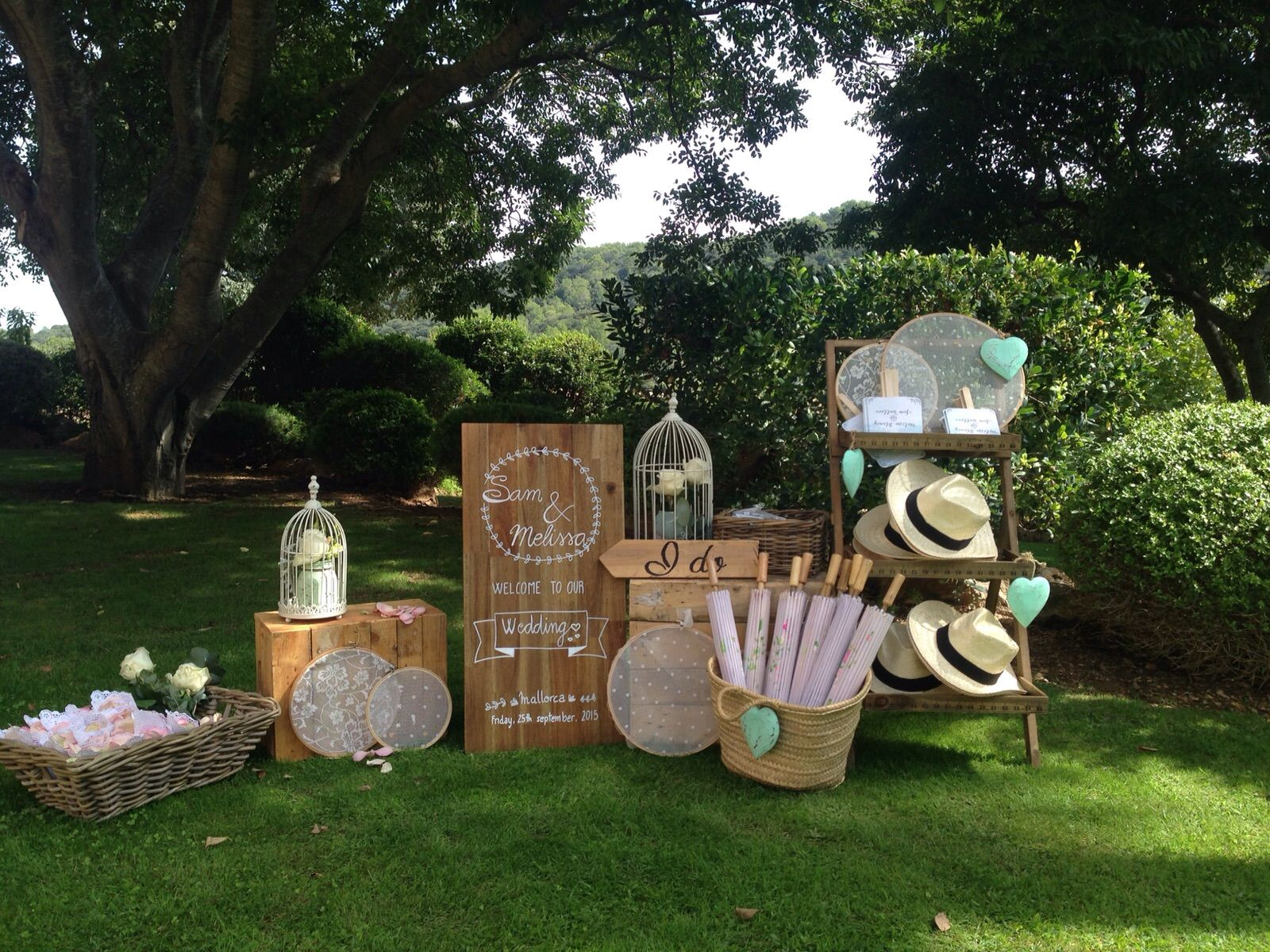 Yard wedding decoration ideas  Wedding ideas  Destination wedding Mallorca  Fun wedding