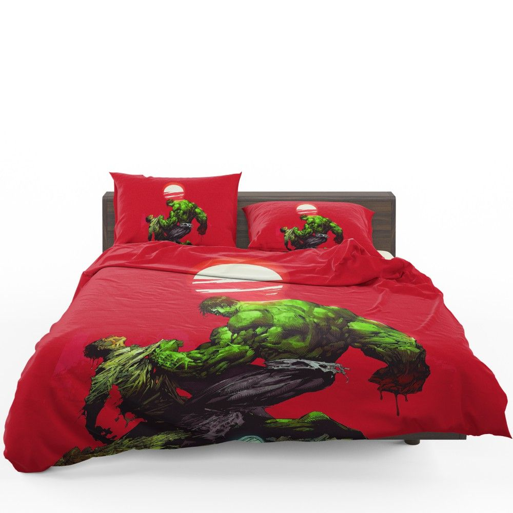 Hulk Vs Bruce Banner Marvel Comics Bedding Set Bed Duvet Covers