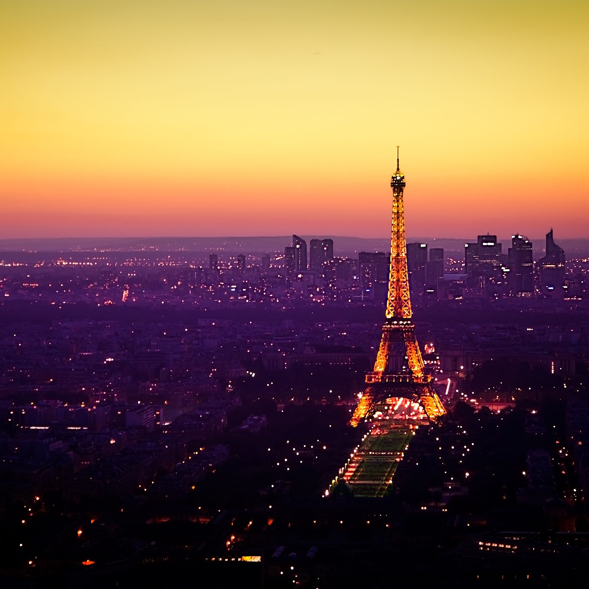 Paris Sunset Eiffel Tower IPad Wallpaper HD #iPad