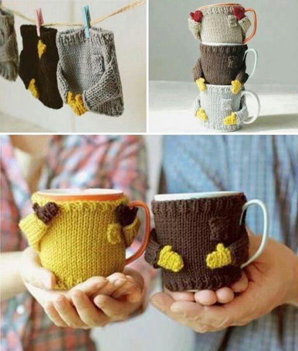 ropita para tazas | cubre tazas | Pinterest | Tejido, Ropa y Vasos