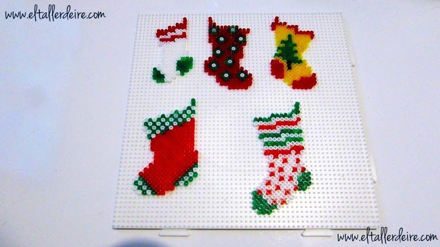 Patrones de calcetines de Navidad, ¡hama beads o punto de cruz ...