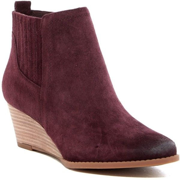 5bcc8fddbfca Franco Sarto Wayra Wedge Bootie - Wide Width Available ( 70) ❤ liked on  Polyvore featuring shoes