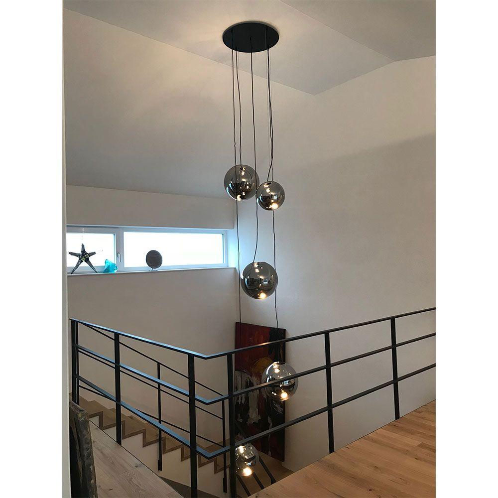 S Luce Fairy Spiegelkugel Pendelleuchte O 30cm Chrom 10744 Treppenbeleuchtung Pendelleuchte Spiegelkugel