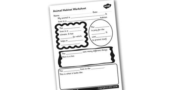 Animal Habitat Worksheet animal habitats habitats worksheet – Habitat Worksheets