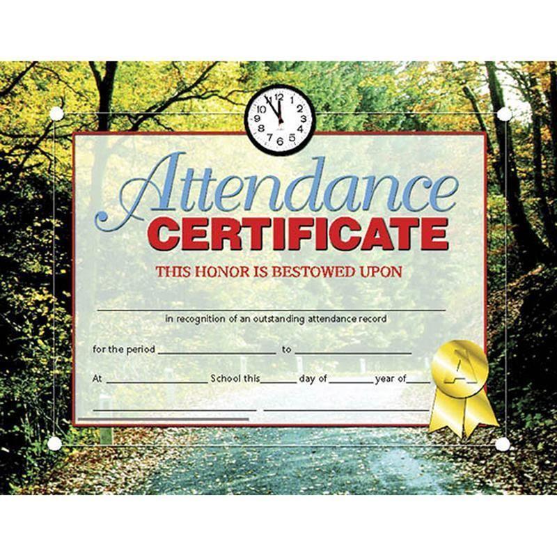 Certificates Attendance 30 Pk 85 X 11 Inkjet Laser Attendance