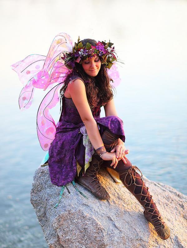 Purple Fairy Lady Fairies Pixies Nymphs Faerie