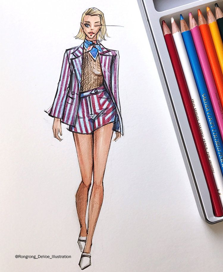 Fashion Sketches Inspired by New York Fashion Week SS18 season
