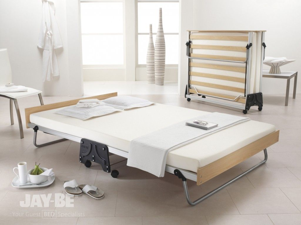 Bedroom Jay Be J Folding Double Guest Bed The Smart Folding Beds Modern Bed That Fold Into Wall For Space E Space Saving Beds Folding Beds Folding Guest Bed
