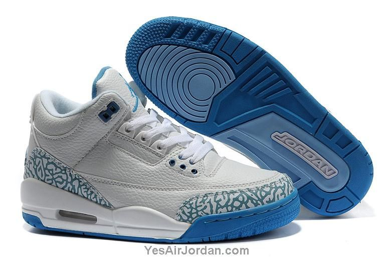3a874432cce0 latest 2013 air jordans iii men shoes white blue with pattern ...