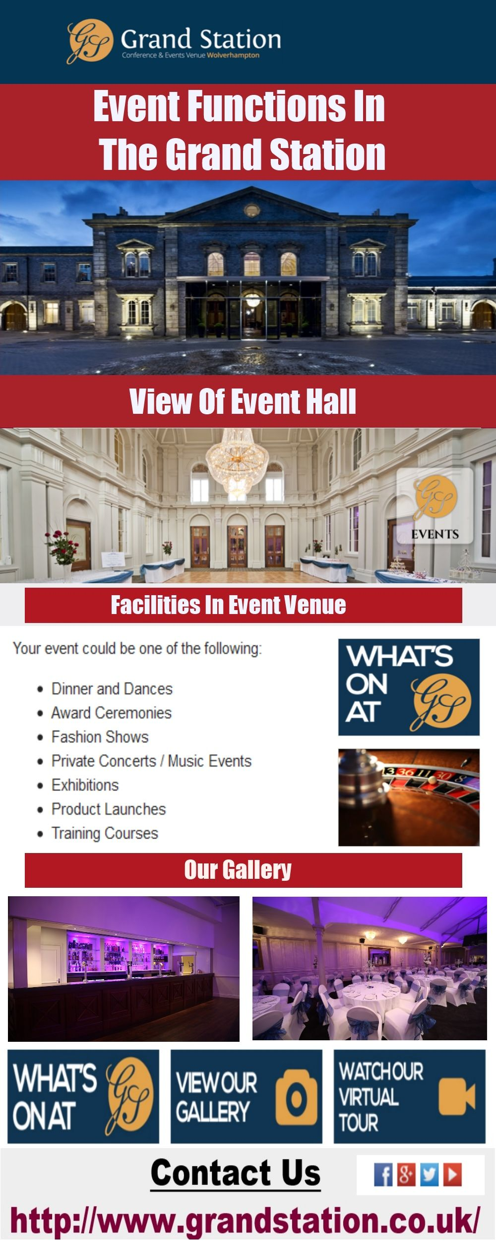 Book Event Halls At Grand Station At Affordable Rates All Types Of