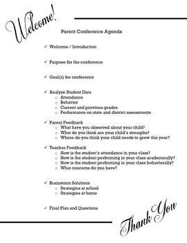 Parent Conference Agenda  Parents Professional Development And