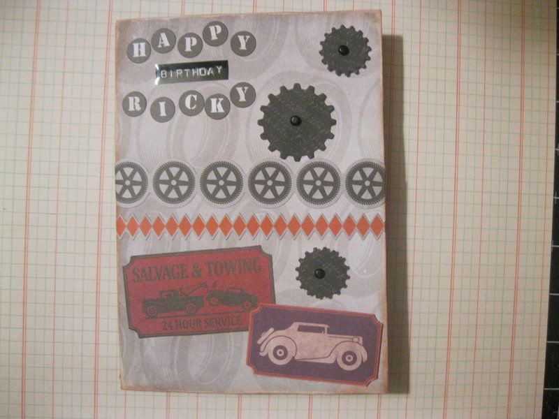 Ricky Birthday Card Scrapbook Trishs Cards Pinterest
