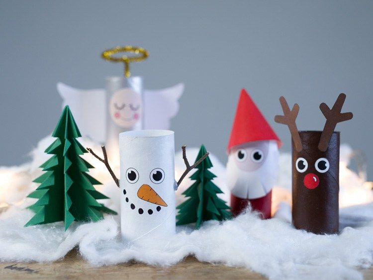 Christmas landscape | Basteln | Pinterest | Küchenrolle, Basteln ...