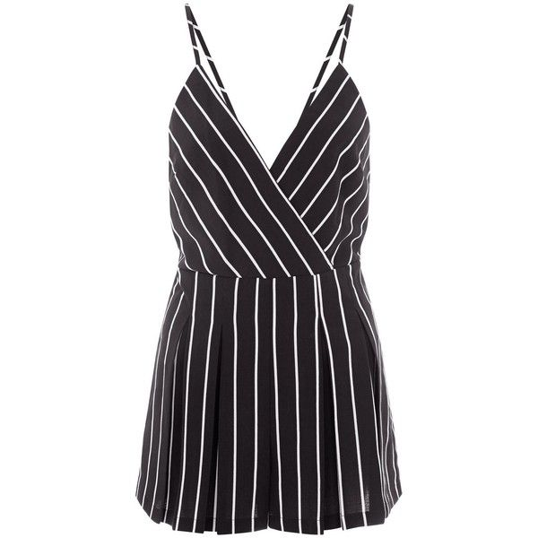 0422894c09a5 Cameo Rose Black Stripe Playsuit ( 11) ❤ liked on Polyvore featuring  jumpsuits