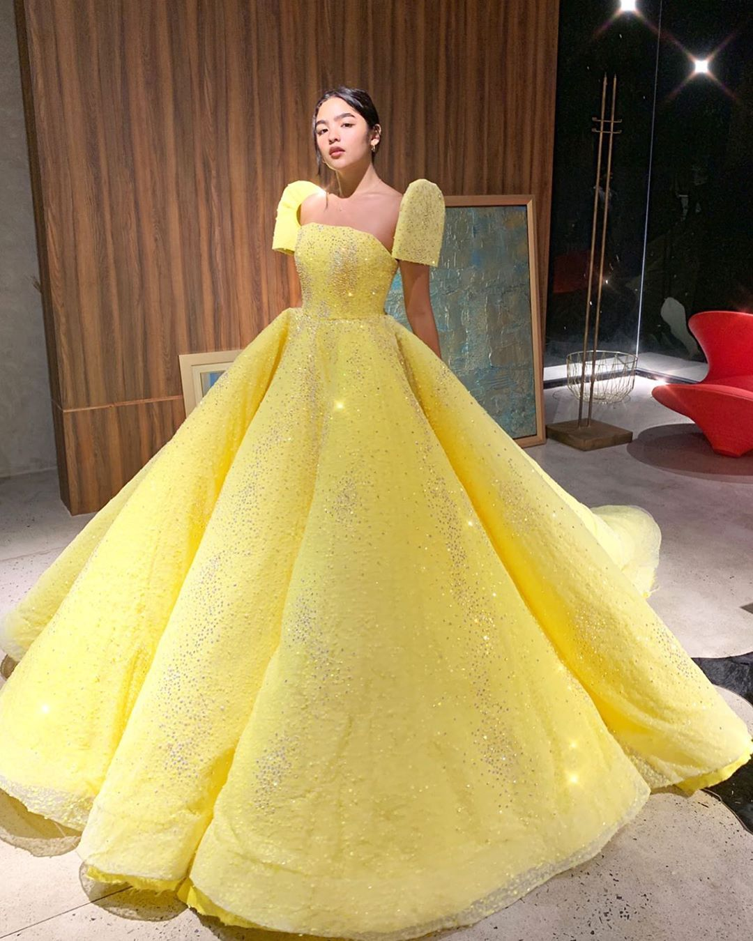 Michael Leyva On Instagram Belle Of The Ball Blythe In Michaelleyva For 2nd Outfit For Abscbnball20 Short Sleeve Prom Dresses Gowns Ball Gowns Prom