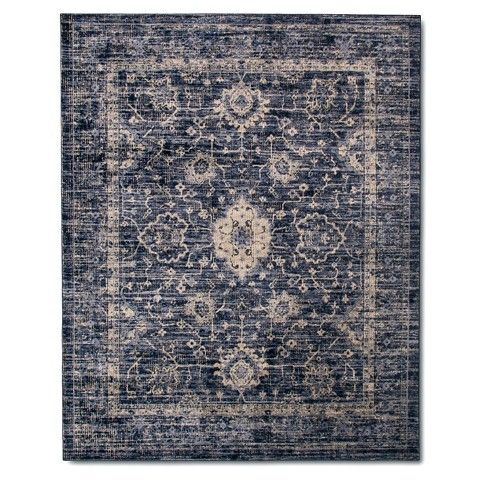 Vintage Distressed Area Rug The