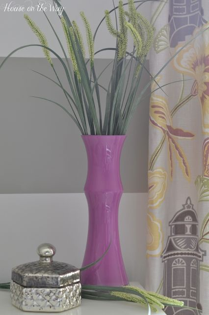 Radiant Orchid Painted Glass Vase Painted Glass Vases Glass And