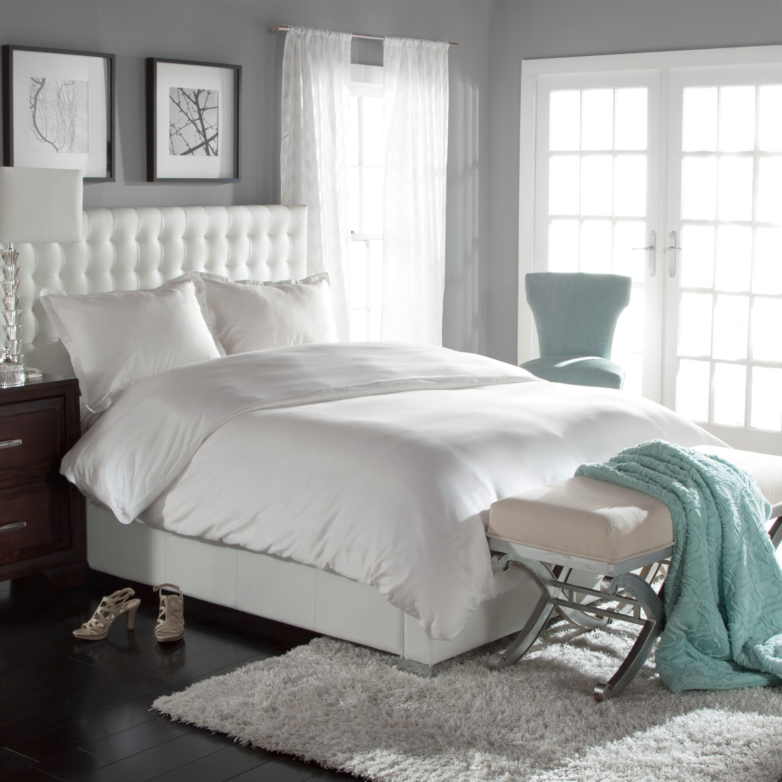 piece shipping product linen today free bath blend overstock cover white amrapur set king cotton duvet bedding overseas