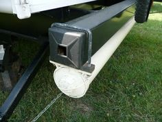 using a u bolt to secure the storage pipe for the carpet RV NOW