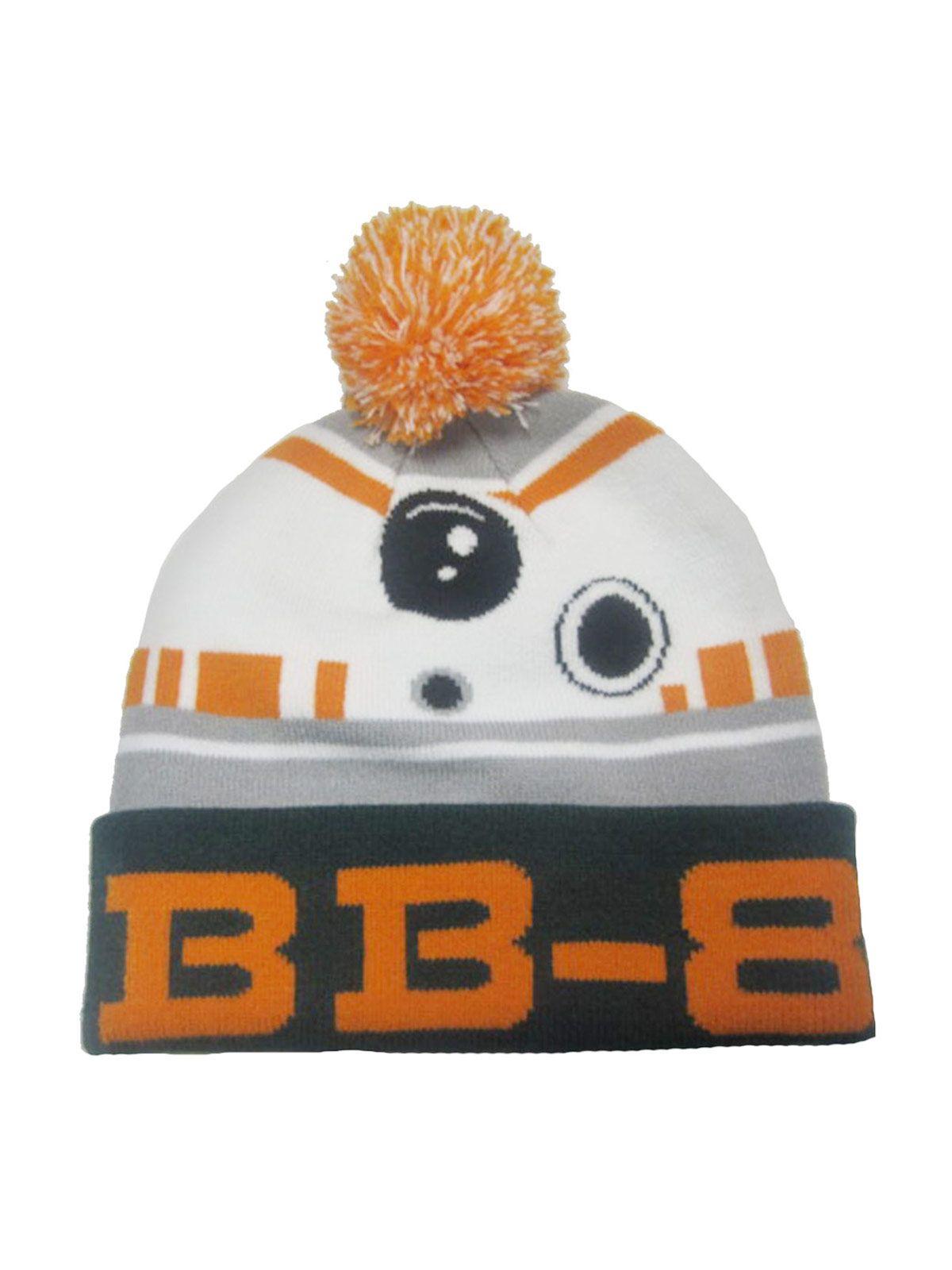 Star Wars Episode VII Beanie Mütze für Kinder BB-8 Lizenzware weiss-braun
