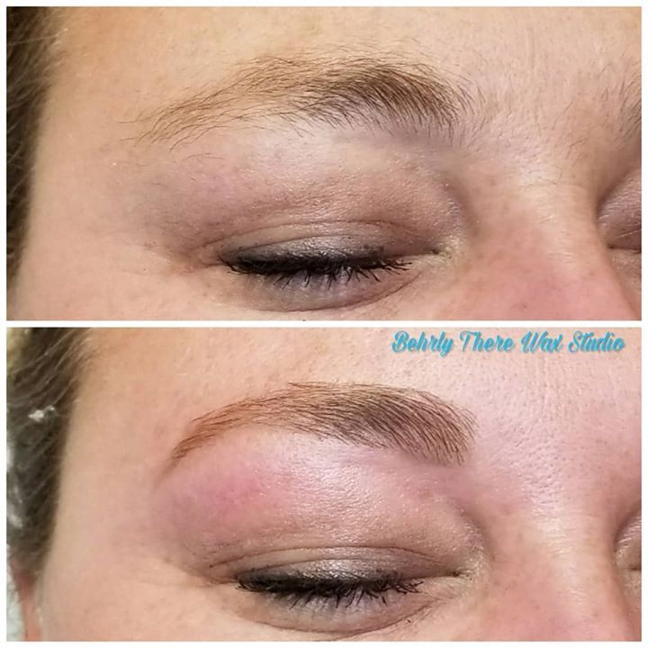 Before and after brow wax and brow powder fill. #waxstudio ...