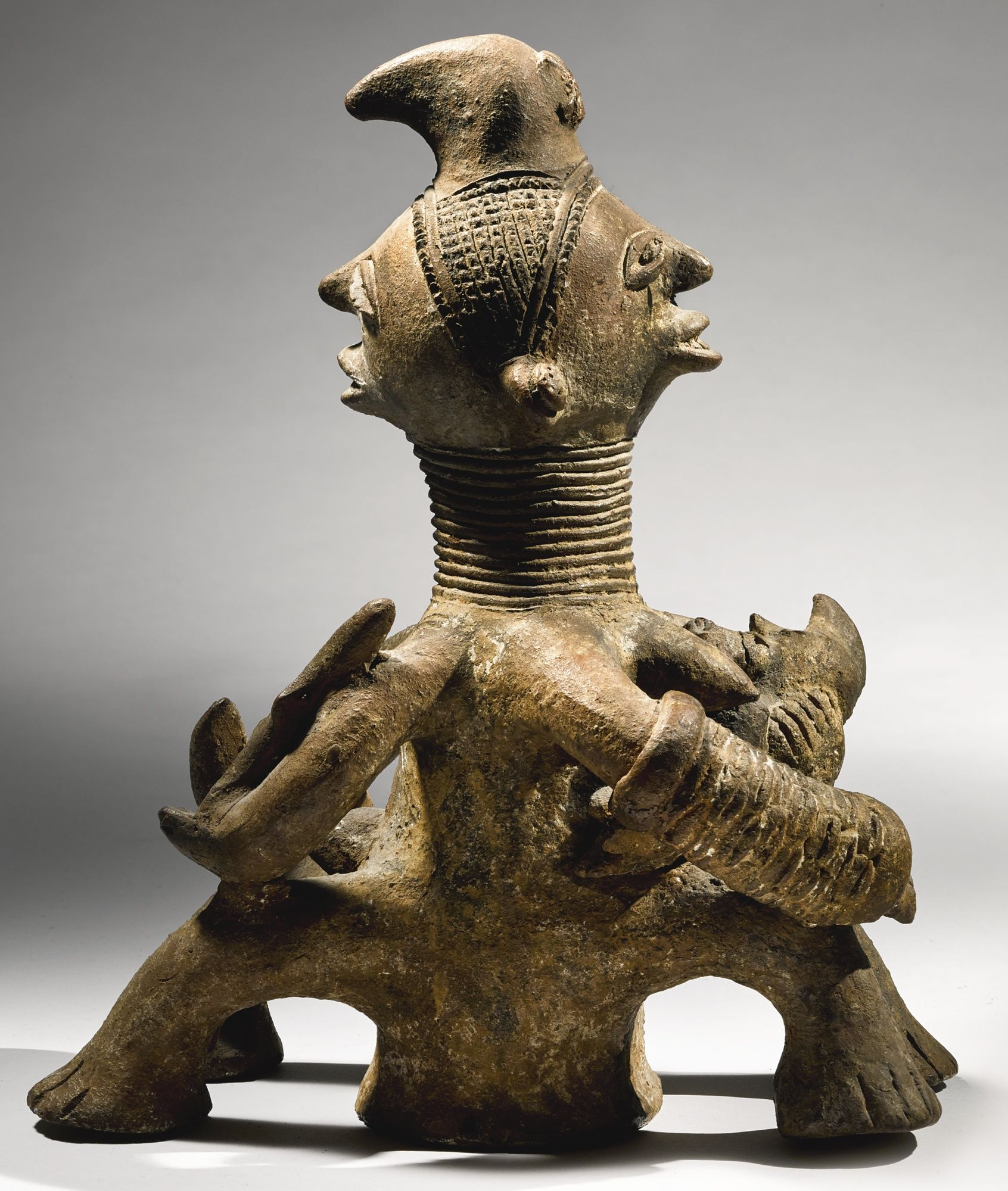 Igbo Male and Female Terracotta Couple, Nigeria | Lot | Sotheby's