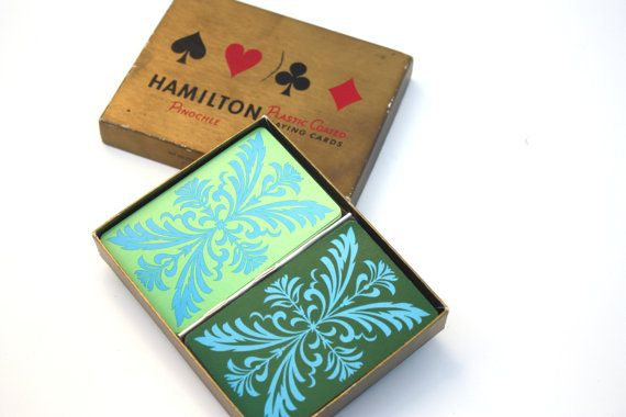 Vintage Hamilton Pinochle Playing Cards by SecondHandNews on Etsy, $9.95