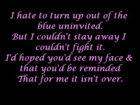 I Never Had Someone Like You Lyrics