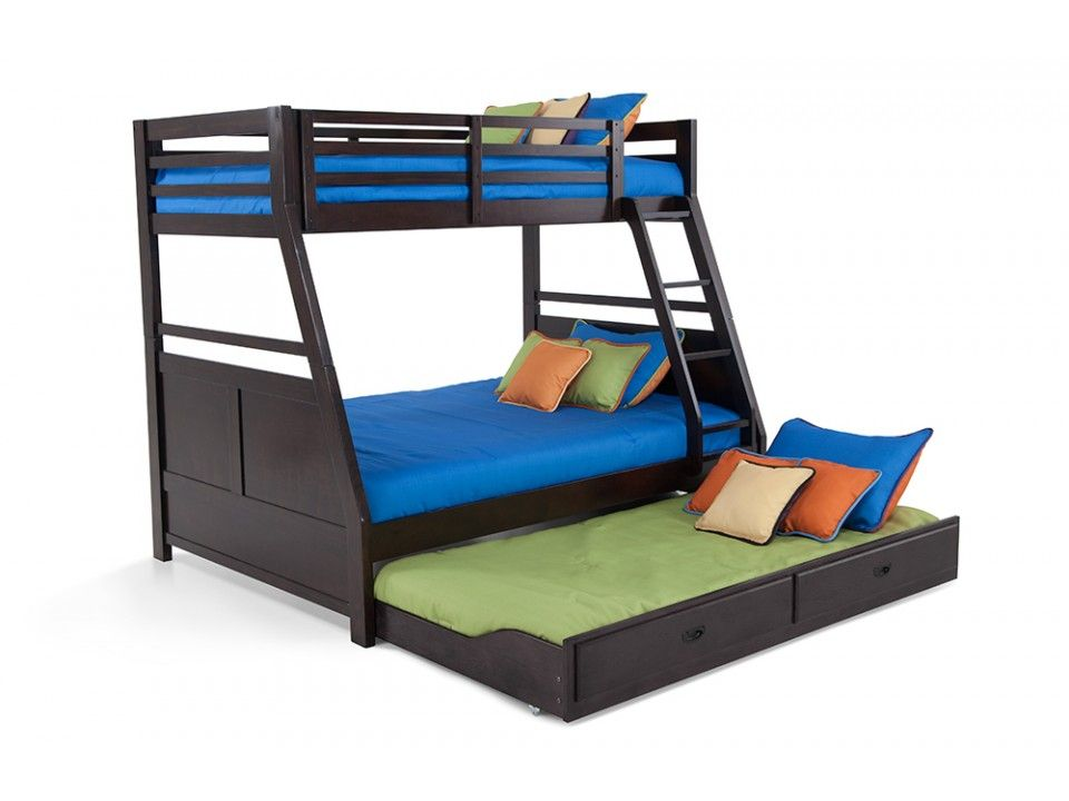 Chadwick Twin Full Bunk Bed With Trundle Kids Bunk Beds Kids