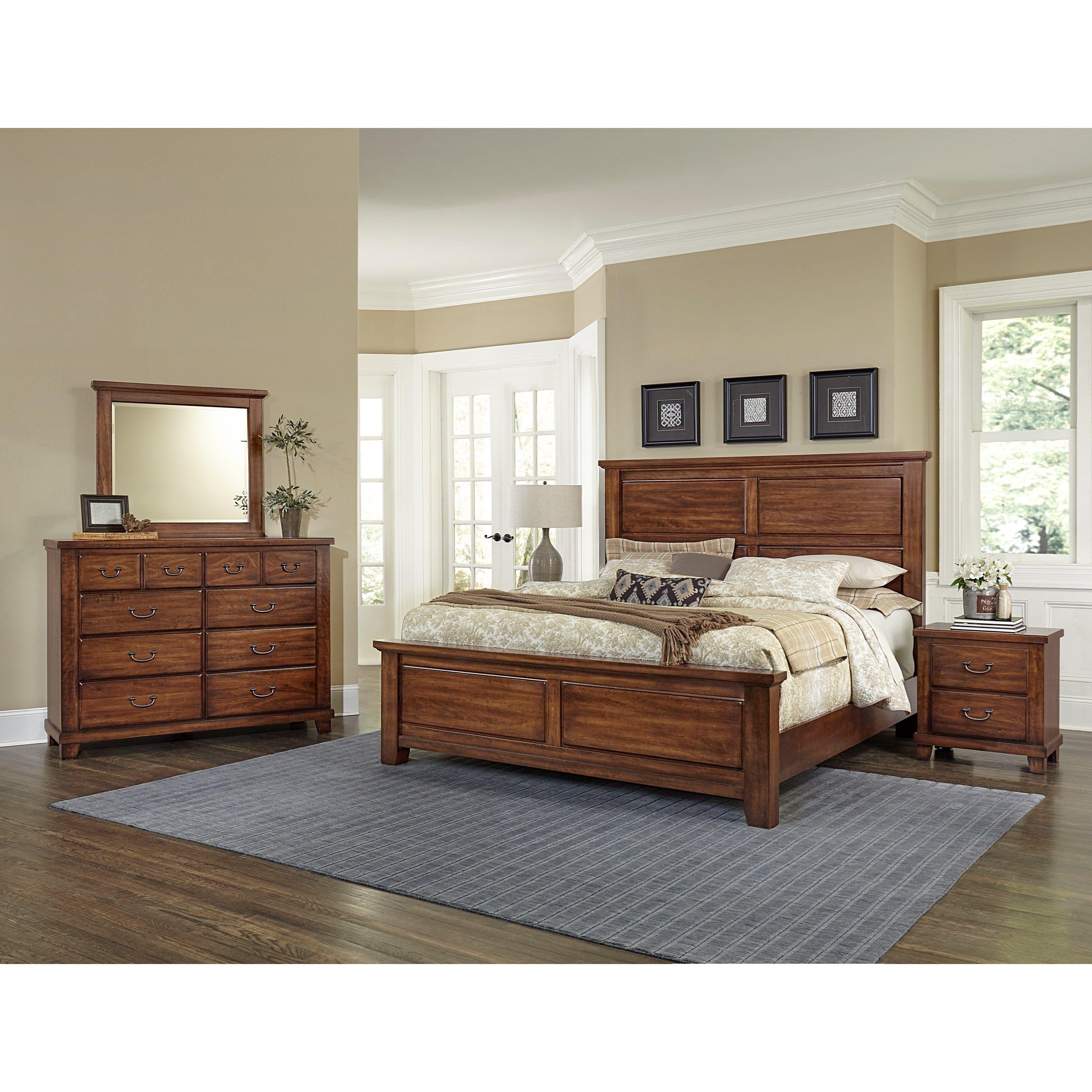 American Cherry King Bedroom Group by Vaughan Bassett