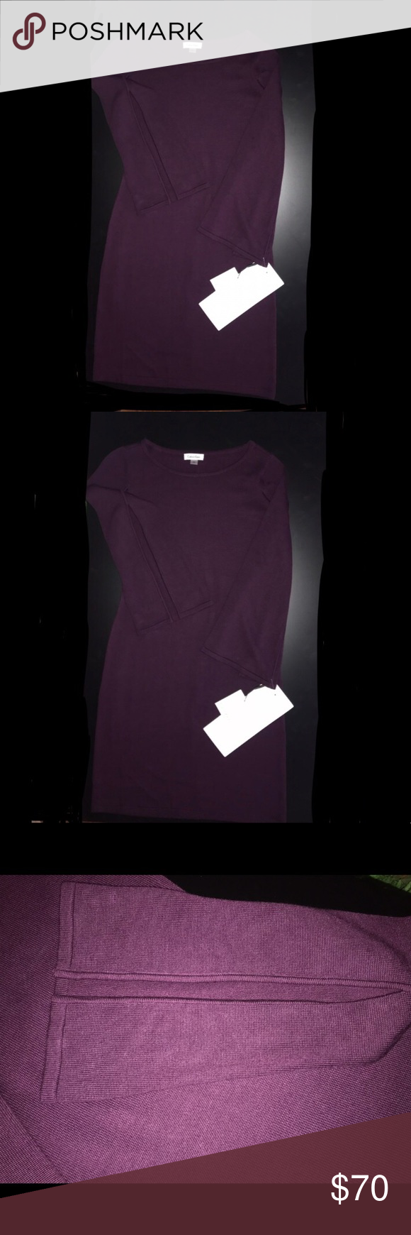 0f5fcda0852 Calvin Klein sweater dress     DOES NOT HAVE STUDDED TRIM    couldn t find  a picture without studs because I bought it about 2 years ago and never  wore it.