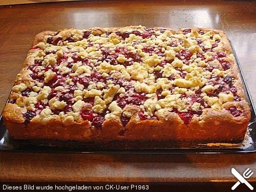 Kirsch - Streusel - Kuchen #easysimpledesserts