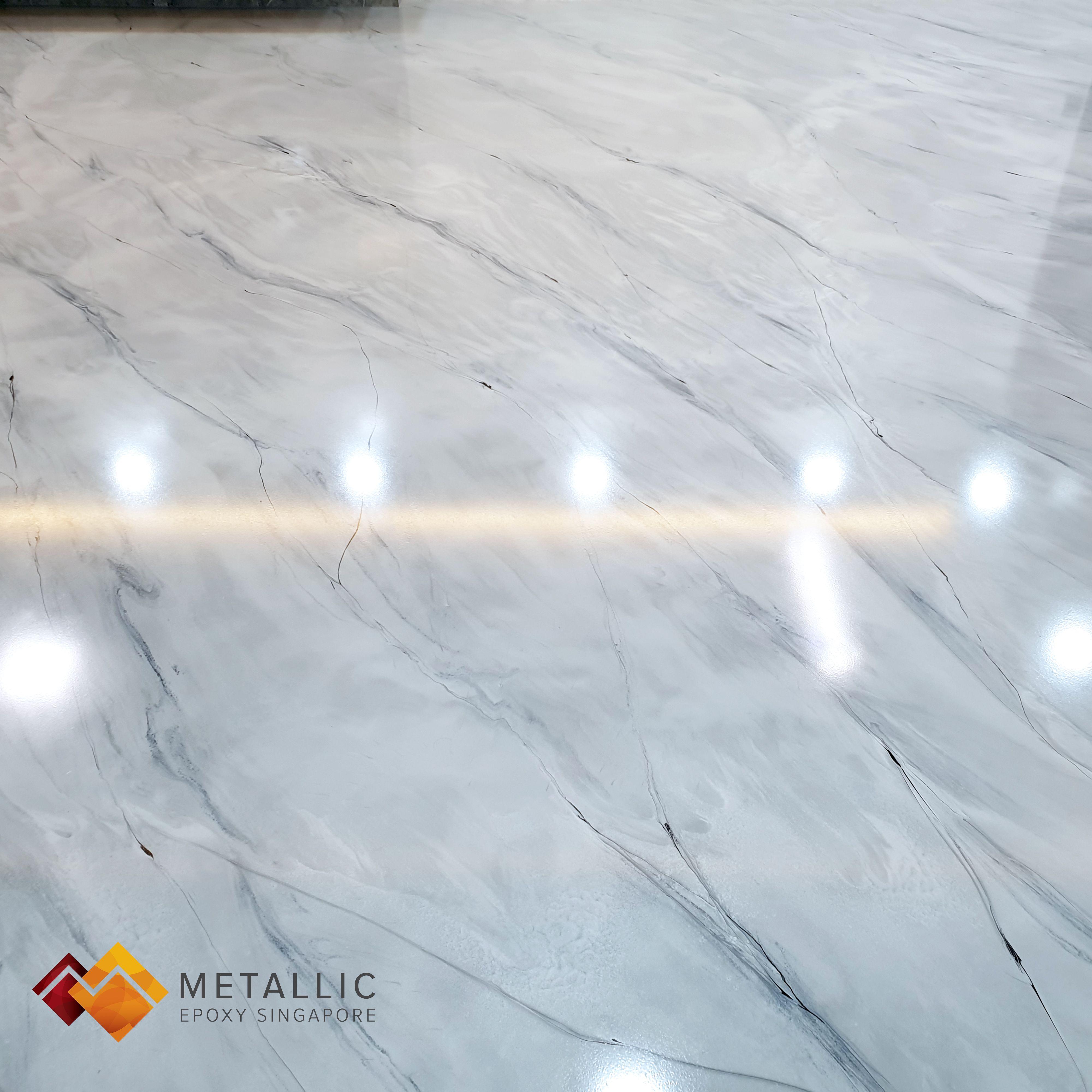 Metallic Epoxy Singapore Grey Mixed Marble Theme Living Room Floor In 2020 Epoxy Floor Flooring Epoxy