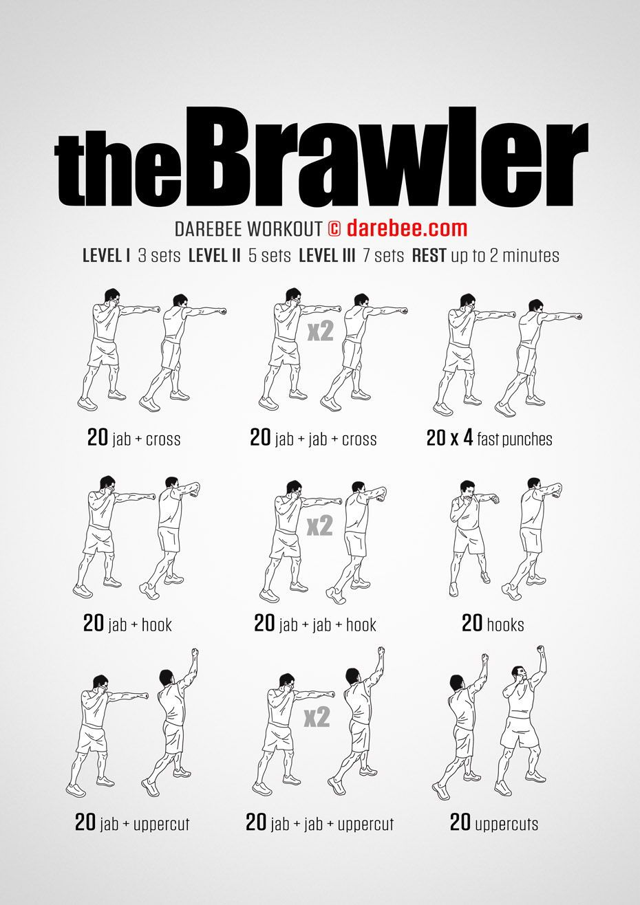 The Brawler Workout1 Shadow Boxing Workout Boxing Training Workout Mma Workout