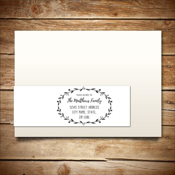 Printable Address Label Template for A7 Envelopes - Return Address - a7 envelope template