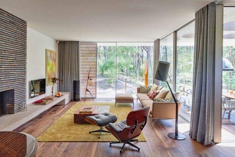 42 salons exquis avec cheminée contemporaine du monde des ...