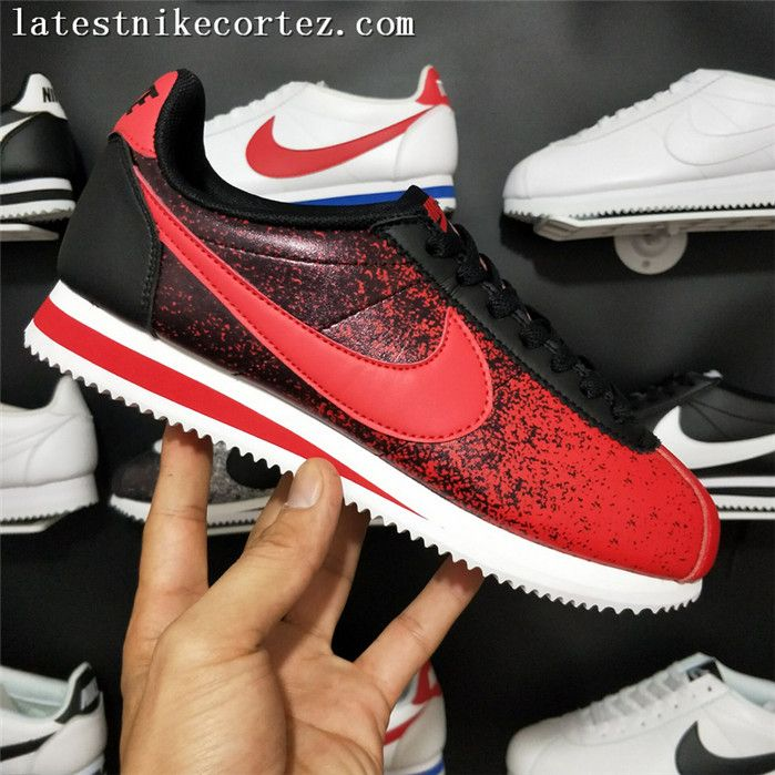 pretty nice 1c252 f9428 2018 For Sale Nike Classic Cortez Leather Womens Sneakers Red Black White