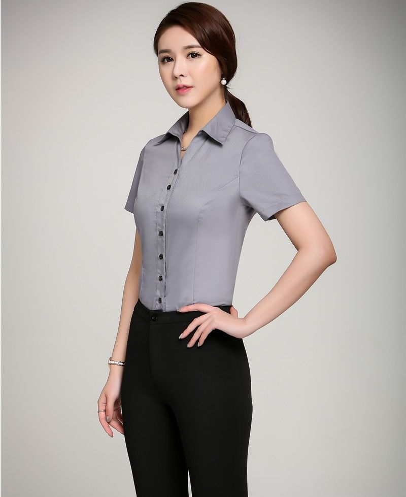 Formal Uniform Design Summer Professional Female Pantsuits With Tops