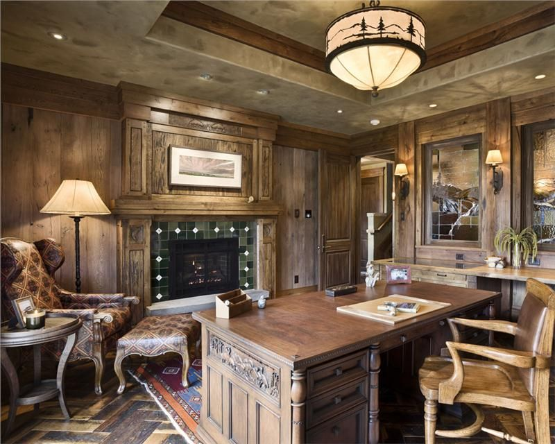 Rustic Home Study   Homey Country/Rustic Home Office by ...