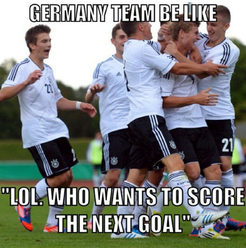 Funny Memes As Germany Beat Brazil 7 1 In 2014 World Cup Soccer Jokes Soccer Funny Funny Soccer Memes