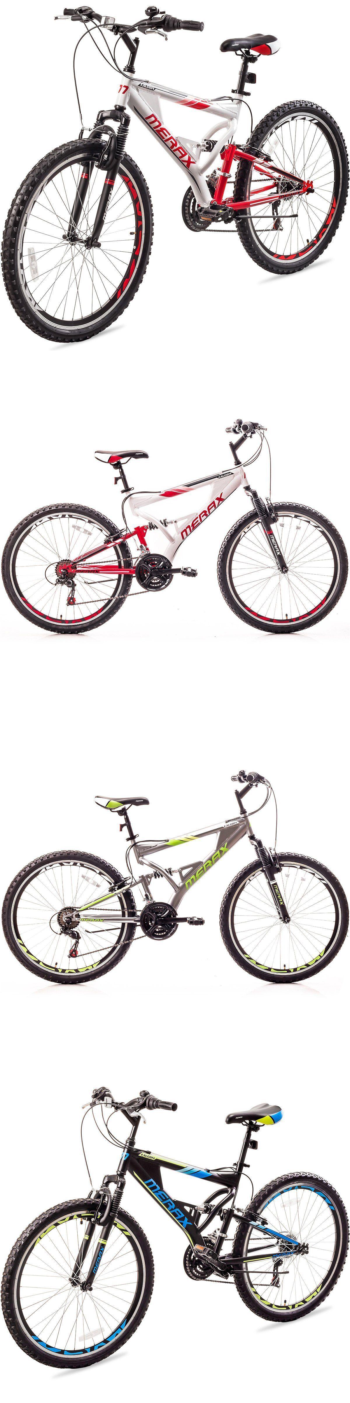 bicycles: Merax Falcon Full Suspension Mountain Bike Aluminum Frame ...