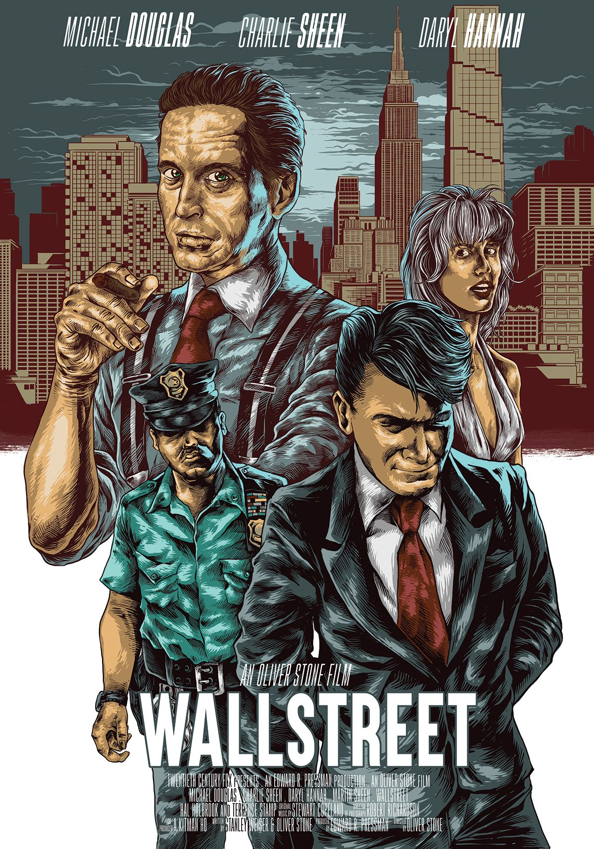 Wall Street Oliver Stone 1987 Alternative Movie Posters