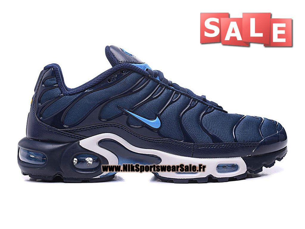 new style 51e4d d8c81 Nike Air Max Tn Tuned Requin 2016 - Chaussures Nike Running Pas Cher Pour  Homme Bleu nuit marine Bleu bâche Blanc 604133-802