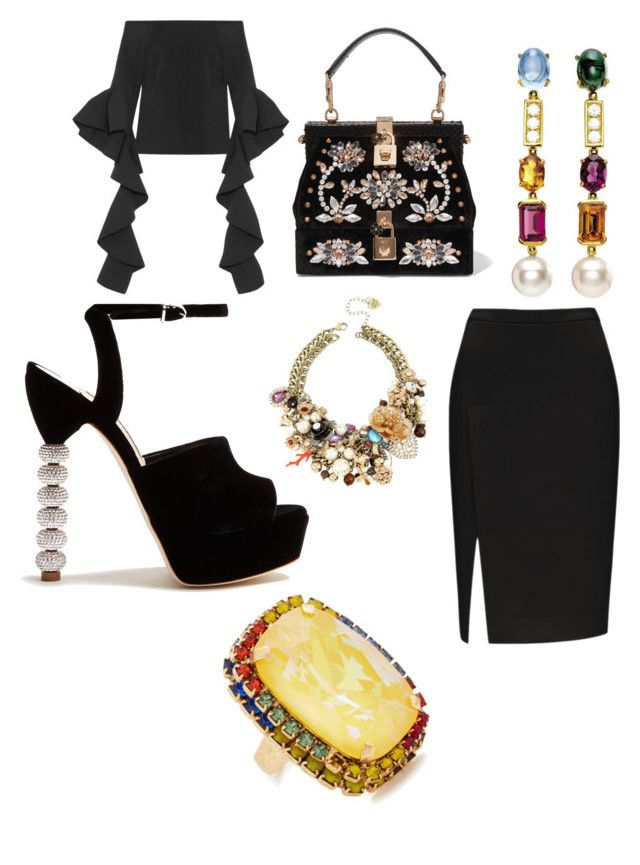 Groove Rules! by robin-groover on Polyvore featuring polyvore, moda, style, E L L E R Y, Sophia Webster, Dolce&Gabbana, Elizabeth Cole, Betsey Johnson, Bulgari, fashion and clothing
