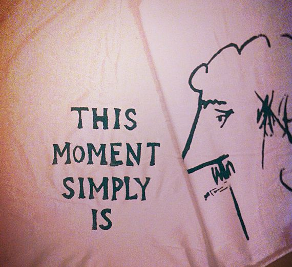 Hand Painted Quote Scarf  This Moment Simply Is  Kurt by coolzeens