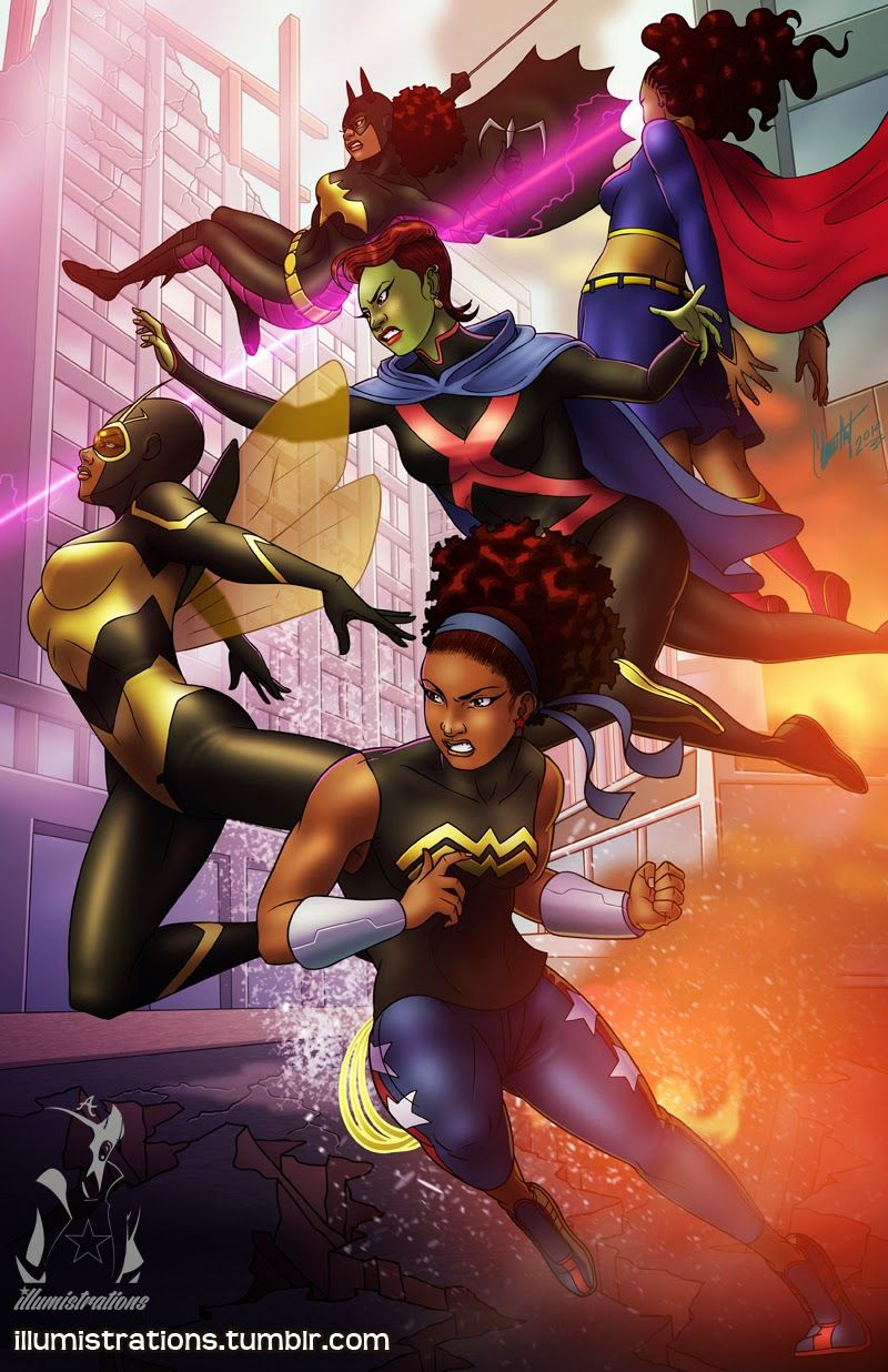 Young Justice African American Art Black Girl Art Art