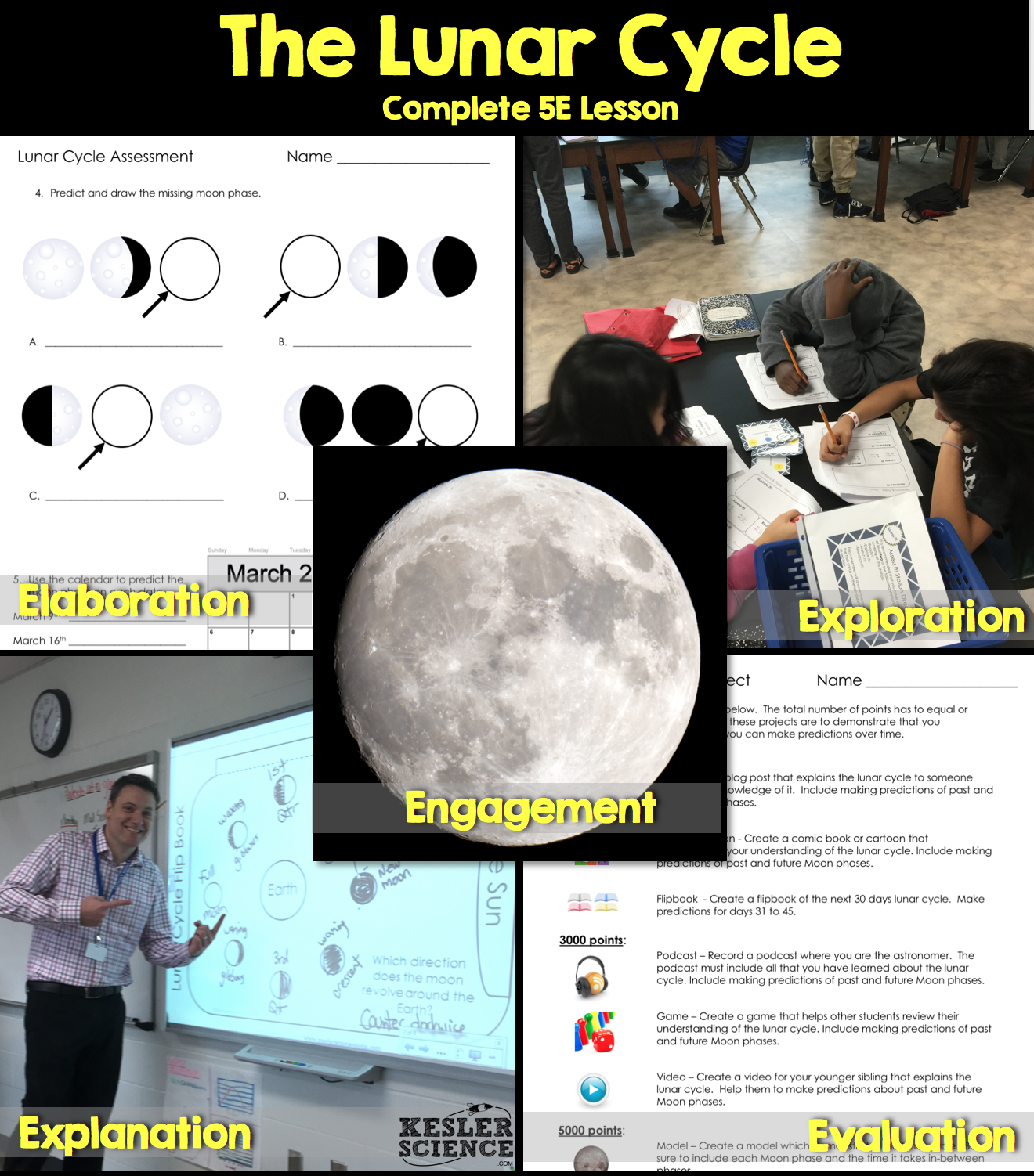 Lunar Cycle Complete 5e Lesson Plan