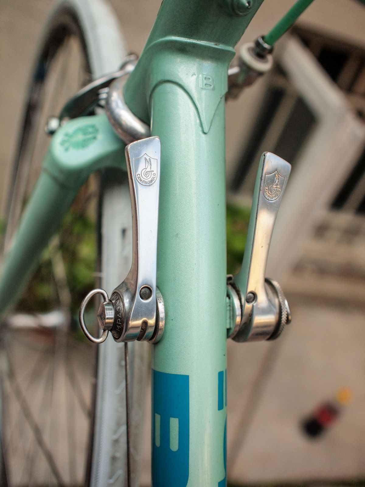Campagnolo Athena shifters on classic Bianchi Rekord 920 ...