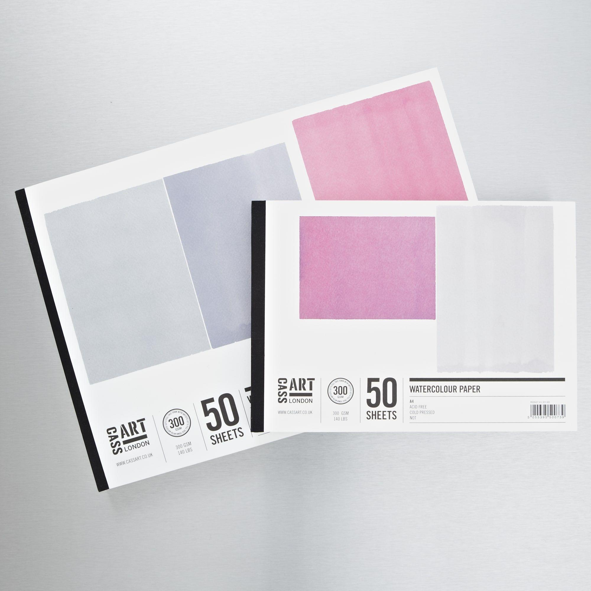 Cass Art Jumbo Gummed Watercolour Pad 300gsm 50 Sheets Cold Hot