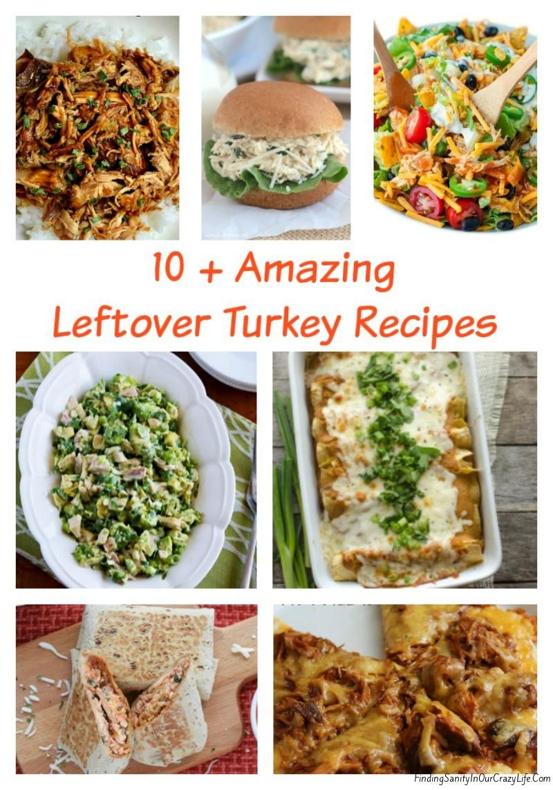 Make delicious and simple meals with your Thanksgiving leftovers with these 10+ Leftover Turkey Recipes. #Thanksgiving #Foodie